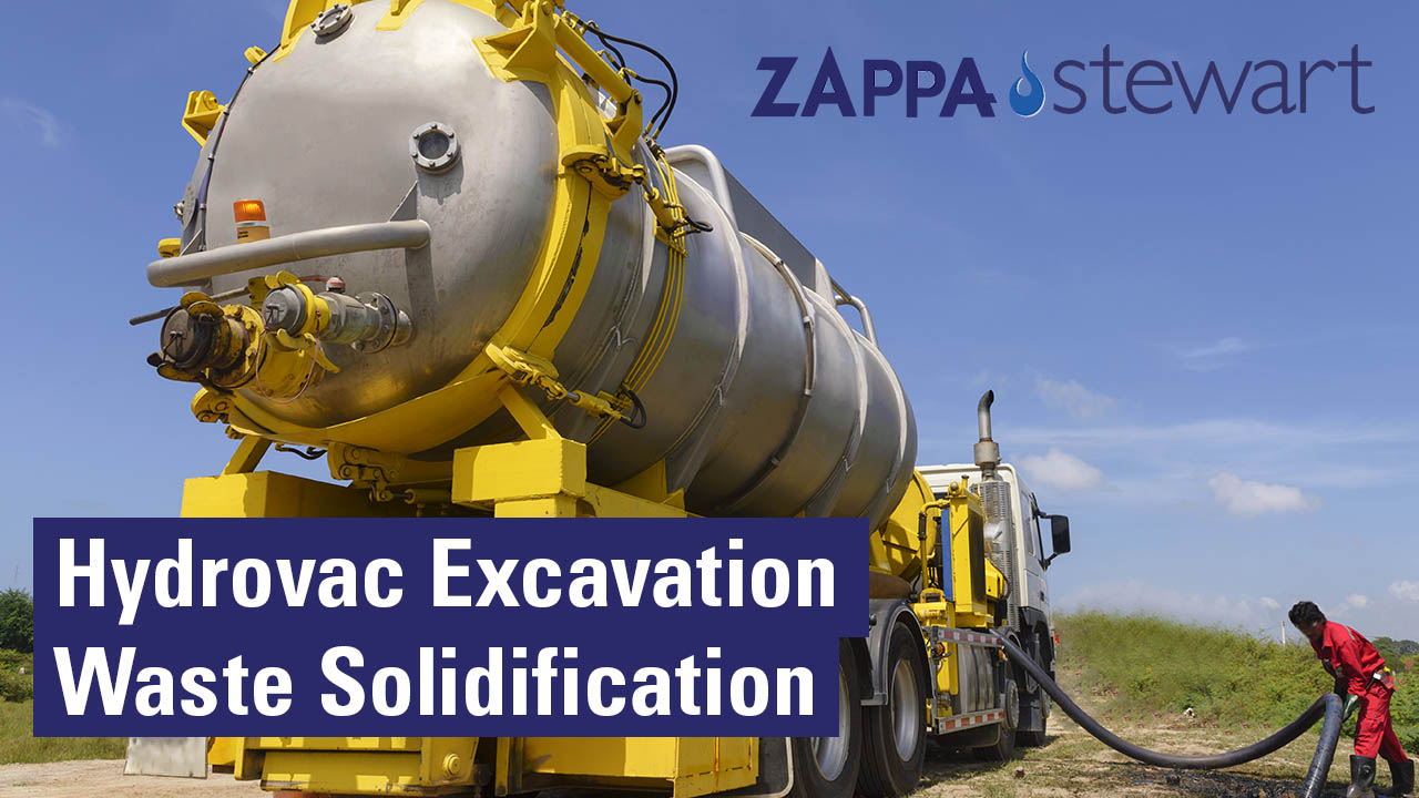 Hydrovac Excavation Waste Solidification using superabsorbent Polymers