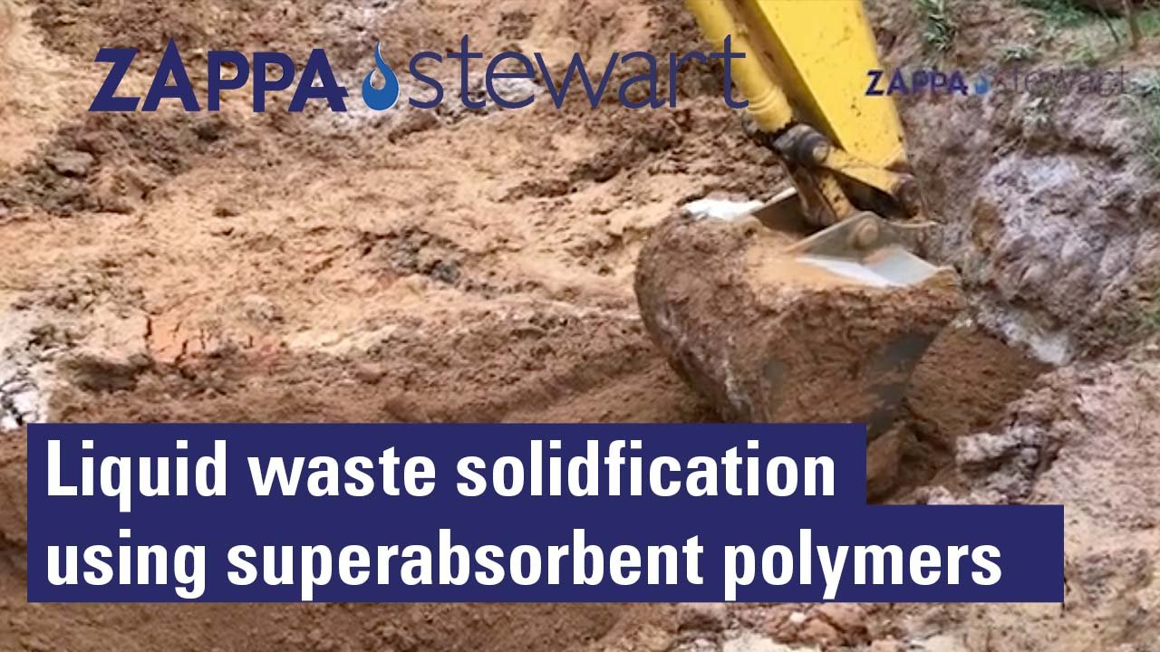 Liquid waste solidificaition