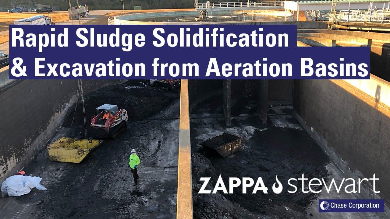 Rapid Sludge Solidification & Excavation from Aeration Basins
