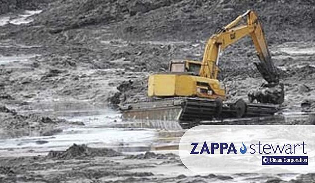 excavator stuck on the sludge